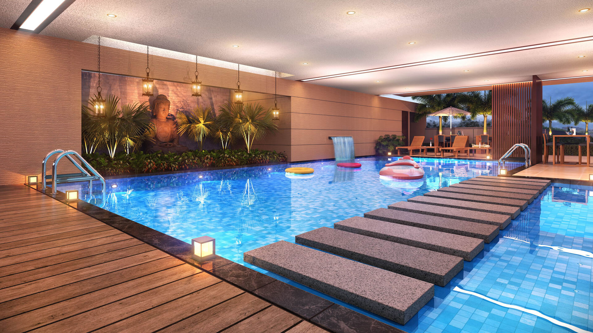 Sun sky park by sun builders for Swimming pool treatment options